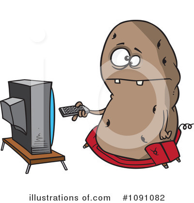 Potato Clipart #1091082 by toonaday