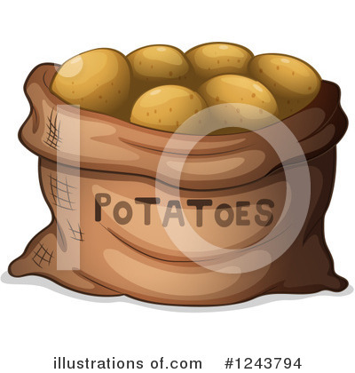 Potato Clipart #1243794 by Graphics RF