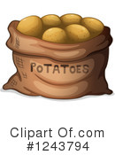 Potatoes Clipart #1243794 by Graphics RF
