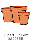Pots Clipart #209355 by Hit Toon