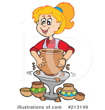 Royalty-Free (RF) Pottery Clipart Illustration by visekart - Stock Sample #213149