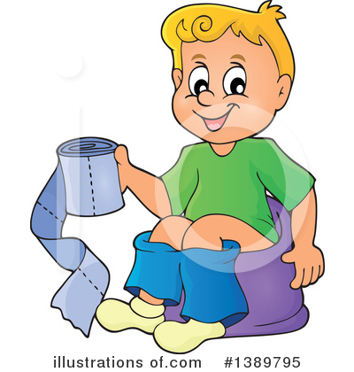 Royalty-Free (RF) Potty Training Clipart Illustration by visekart - Stock Sample #1389795