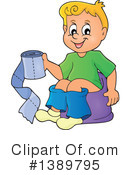Royalty-Free (RF) Potty Training Clipart Illustration #1389795