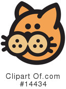 Royalty-Free (RF) Pounce Cat Clipart Illustration #14434