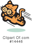 Royalty-Free (RF) Pounce Cat Clipart Illustration #14446