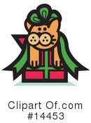 Royalty-Free (RF) Pounce Cat Clipart Illustration #14453