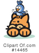 Royalty-Free (RF) Pounce Cat Clipart Illustration #14465