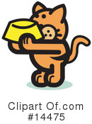 Royalty-Free (RF) Pounce Cat Clipart Illustration #14475