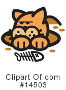 Royalty-Free (RF) Pounce Cat Clipart Illustration #14503