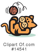 Royalty-Free (RF) Pounce Cat Clipart Illustration #14541