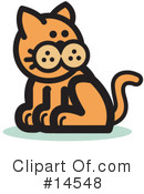 Royalty-Free (RF) Pounce Cat Clipart Illustration #14548