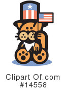 Royalty-Free (RF) Pounce Cat Clipart Illustration #14558