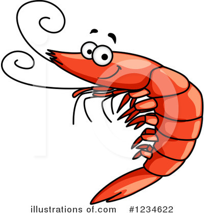 Shrimp Clipart #1234622 by Vector Tradition SM