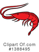 Prawn Clipart #1388495 by Vector Tradition SM