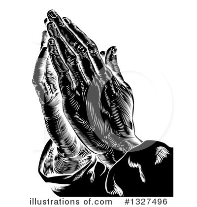 Praying Clipart #1327496 by AtStockIllustration