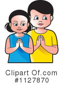 Praying Clipart #1127870 by Lal Perera