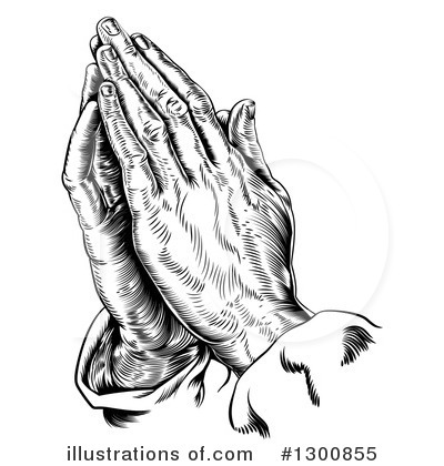 Praying Clipart #1300855 by AtStockIllustration