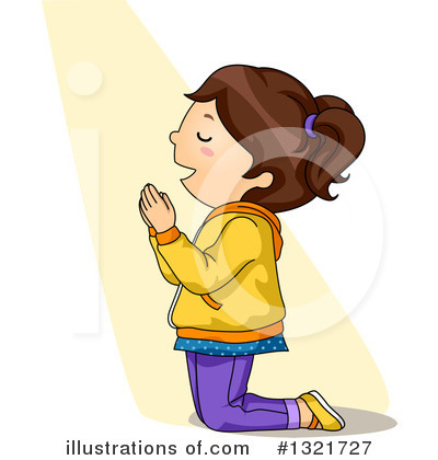 Praying Clipart #1321727 by BNP Design Studio