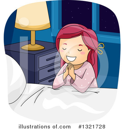 Praying Clipart #1321728 by BNP Design Studio