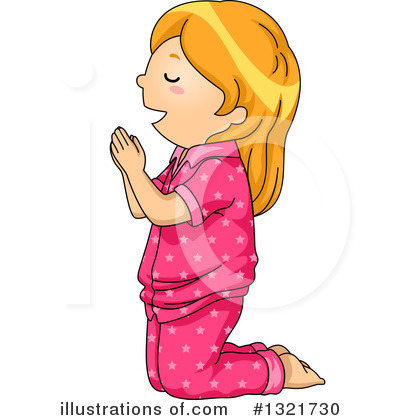 Royalty-Free (RF) Praying Clipart Illustration by BNP Design Studio - Stock Sample #1321730