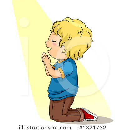 Praying Clipart #1321732 by BNP Design Studio