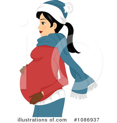 Pregnant Clipart #1086937 by BNP Design Studio