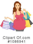 Royalty-Free (RF) Pregnant Clipart Illustration #1086941