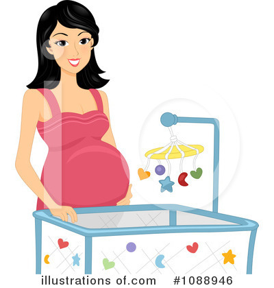 Crib Clipart #1088946 by BNP Design Studio