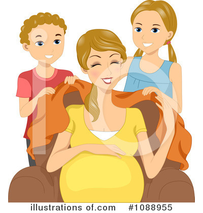 Royalty-Free (RF) Pregnant Clipart Illustration by BNP Design Studio - Stock Sample #1088955