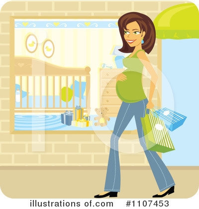 Pregnant Clipart #1107453 by Amanda Kate