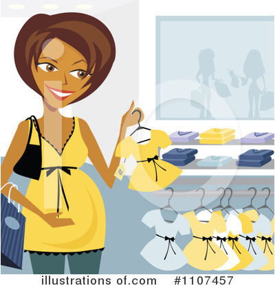 Pregnant Clipart #1107457 by Amanda Kate