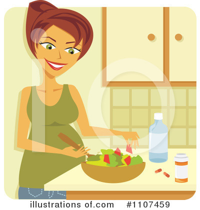 Pregnant Clipart #1107459 by Amanda Kate