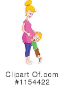Royalty-Free (RF) Pregnant Clipart Illustration #1154422