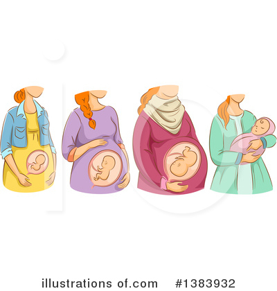 Royalty-Free (RF) Pregnant Clipart Illustration by BNP Design Studio - Stock Sample #1383932
