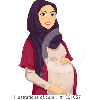 Royalty-Free (RF) Pregnant Clipart Illustration by BNP Design Studio - Stock Sample #1531057