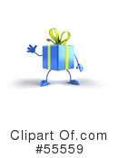 Present Character Clipart #55559 by Julos