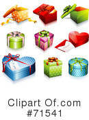 Royalty-Free (RF) Presents Clipart Illustration #71541