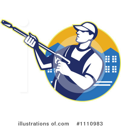Pressure Washer Clipart #1110983 by patrimonio