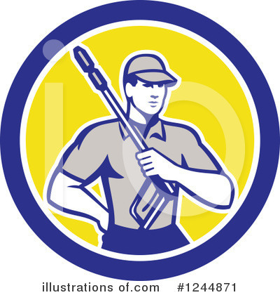 Pressure Washer Clipart #1244871 by patrimonio