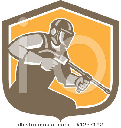 Royalty-Free (RF) Pressure Washer Clipart Illustration by patrimonio - Stock Sample #1257192