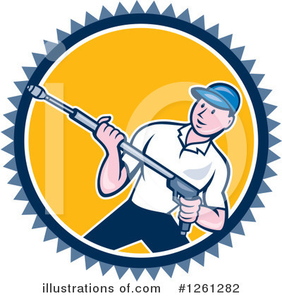 Pressure Washer Clipart #1261282 by patrimonio