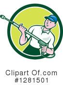 Pressure Washer Clipart #1281501