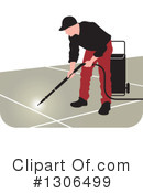 Royalty-Free (RF) Pressure Washer Clipart Illustration #1306499
