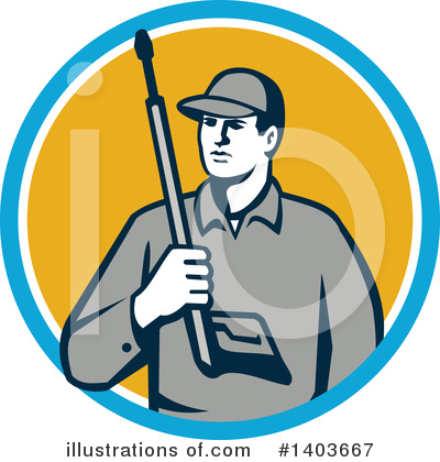 Pressure Washer Clipart #1403667 by patrimonio