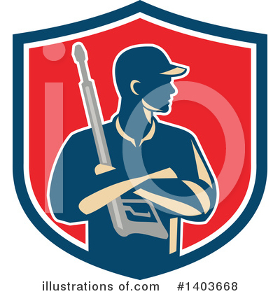 Pressure Washer Clipart #1403668 by patrimonio