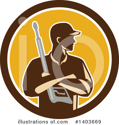 Pressure Washer Clipart #1403669 by patrimonio