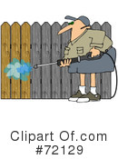 Royalty-Free (RF) Pressure Washer Clipart Illustration #72129