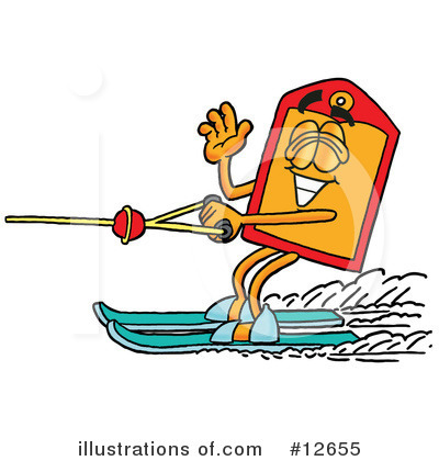 Waterskiing Clipart #12655 by Toons4Biz