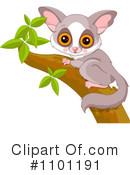 Royalty-Free (RF) Primate Clipart Illustration #1101191