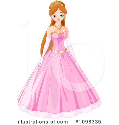 Royalty-Free (RF) Princess Clipart Illustration by Pushkin - Stock Sample #1098335
